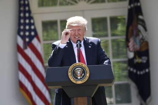 Donald Trump à la Maison Blanche, jeudi 1er juin 2017.