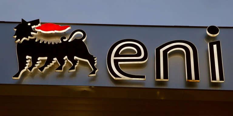 Le logo de la major italienne de pétrole et de gaz ENI.
