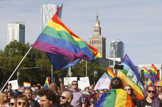 Parade de l'égalité, à Varsovie, le 3 juin