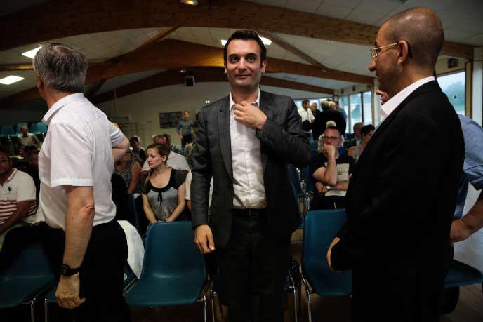 Florian Philippot, lors d'un meeting à Laon, le 2 juin.
