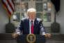 Donald Trump annonce le retrait des Etats-Unis de l'accord de Paris, dans le Rose Garden de la Maison Blanche le 1er juin.