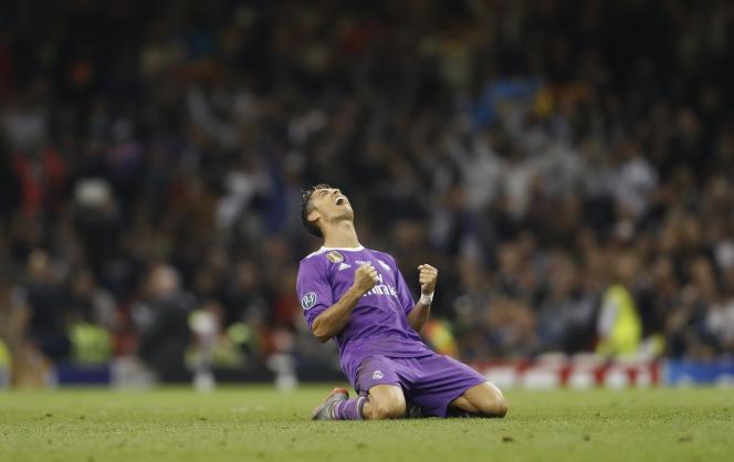 Le joueur du Real Madrid Cristiano Ronaldo lors du match contre la Juventus Turin, à Cardiff (pays de Galles), le 3 juin.
