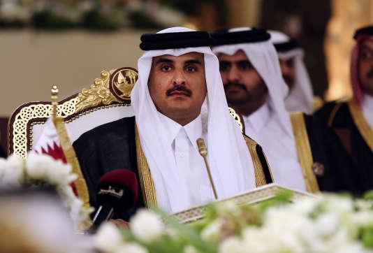 Tamim Ben Hamad Al-Thani, l'émir du Qatar, à Doha en décembre 2014.