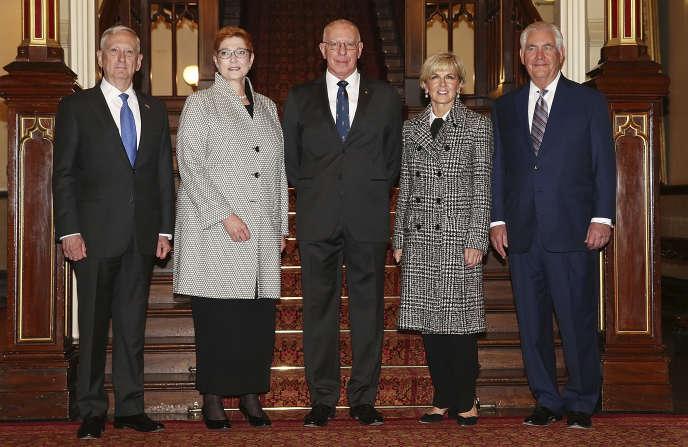 Réunion entre les dirigeants américains et australiens, le 5 juin à Sydney.