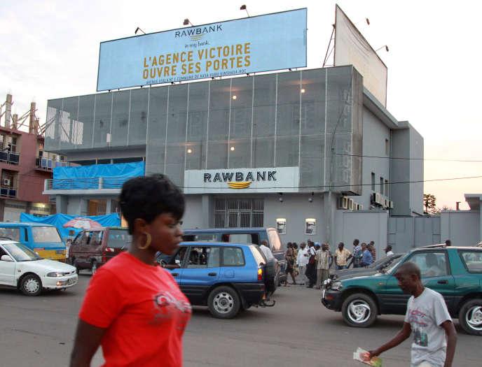 Agence Rawbank, à Kinshasa (RDC), en 2012.