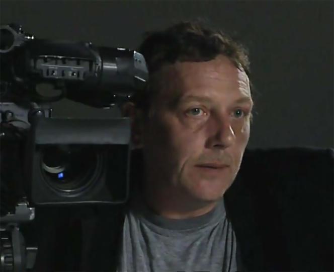 Christophe Otzenberger lors d'un entretien avec Laurent Roth (pas d'année)