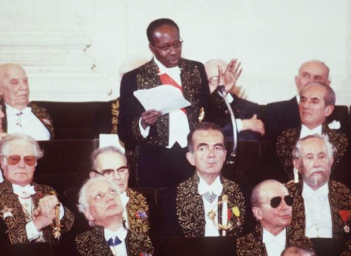 Léopold Sédar Senghor, lors de son discours de réception à l'Académie française, le 29 mars 1984