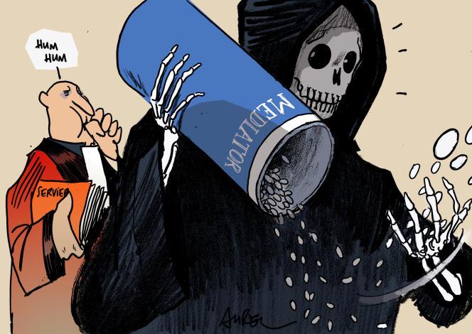 «Emmanuel Macron a illustré pendant la campagne présidentielle cette porosité avec le monde des multinationales en ayant dû évincer son conseiller santé, après avoir appris qu'il avait bénéficié de dizaines de contrats de prestations du laboratoire Servier, à l'origine du scandale du Mediator.»