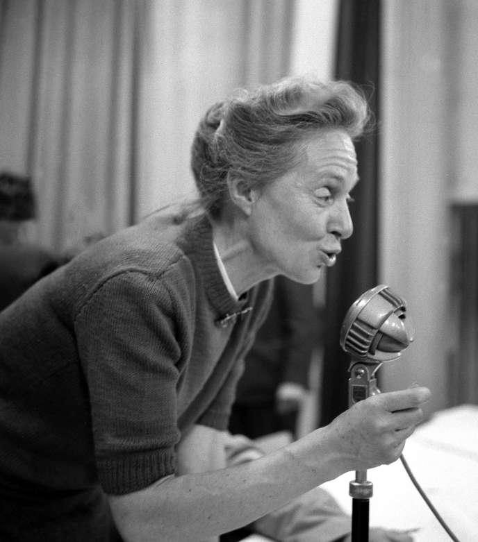 Marie-Claude Vaillant-Couturier, députée communiste de 1946 à 1958, réélue quatre ans plus tard. Ici en 1963.