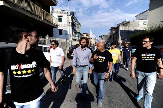 Ugo Forello, le candidat du M5S à l'élection municipale de Palerme, le 30 mai.