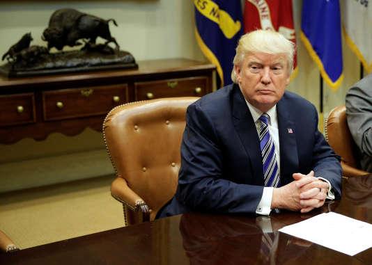 Donald Trump à Washington, le 6 juin 2017.