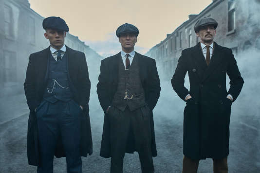 Joe Cole (John Shelby), Cillian Murphy (Tommy Shelby) et Paul Anderson (Arthur Shelby)