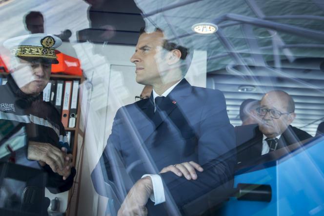 Emmanuel Macron, à Lorient, le 1er juin.