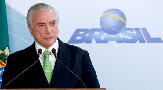 Le président brésilien Michel Temer, le 5 juin 2017.