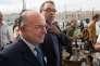 Bernard Cazeneuve avec Patrick Mennucci à Marseille le 6juin.
