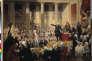 """«Certes plus que 1789, c'est 1792 qui est la vraie révolution française. » (Illustration: tableau de Joseph-Désiré Court. Mirabeau devant monsieur de Dreux-Brézé à l'Assemblée des députés, le 23juin 1789, à Versailles où Mirabeau s'écrie: """"Allez dire à votre maître que nous sommes ici par la volonté du peuple, et que nous n'en sortirons que par la force des baïonnettes !"""")"""