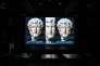 Projection numérique du buste de l'empereur Hadrien.