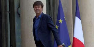 Nicolas Hulot, le 6 juin 2017, sur le perron de l'Elysée, à Paris.