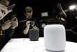 Le HomePod d'Apple a été présenté en ouveture de la WWDC, à San José (Californie), lundi 5 juin.