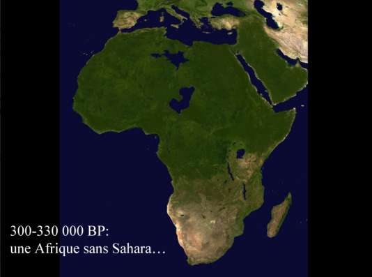 Il y a plus de 300000 ans, le Sahara était vert et ne constituait pas une barrière géologique.