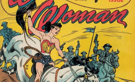 Wonder Woman à ses débuts en comics.