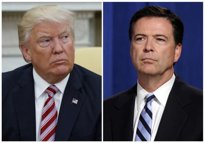 Donald Trump (à gauche) et James Comey, ancien directeur du FBI.