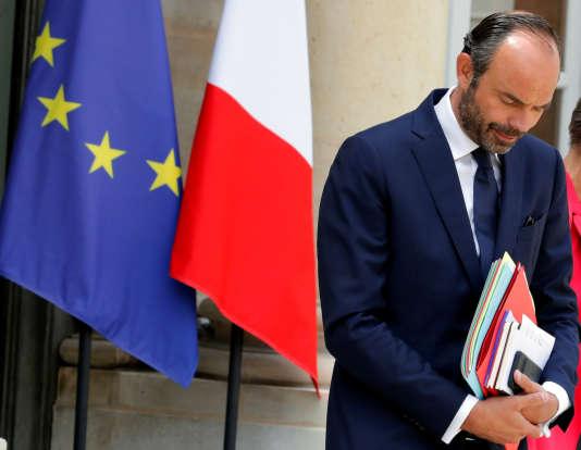 Le premier ministre Edouard Philippe à l'Elysée le 7 juin.