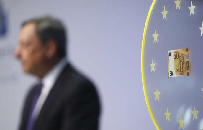 Mario Draghi, président de la Banque centrale européenne, le 4 avril à Francfort-sur-le-Main.