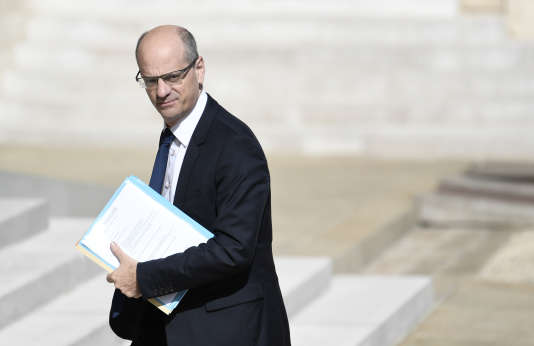 Jean-Michel Blanquer, ministre de l'éducation nationale, à l'Elysée à Paris le 31 mai.
