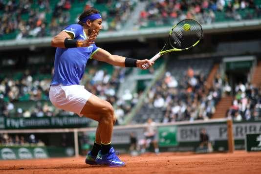 Rafael Nadal lors de son match face à Pablo Carreno Busta.