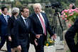 Emmanuel Macron et Donald Trump à Taormine, le 26mai, à l'occasion d'un sommet du G7.