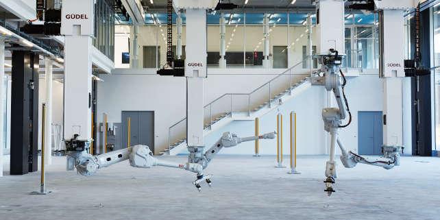 Bras robotique du laboratoire d'architecture de Zurich.