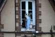 Une fenêtre de l'école catholique «L'Angelus» à Presly,le 5 juin.