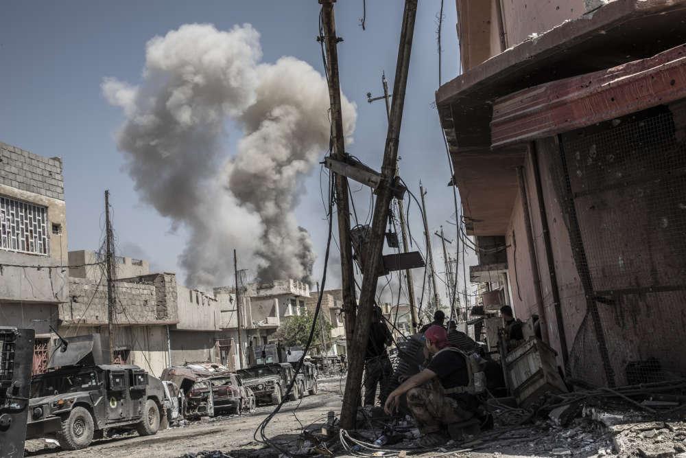 Une frappe aérienne de la coalition sur le quartier de Zingjili.
