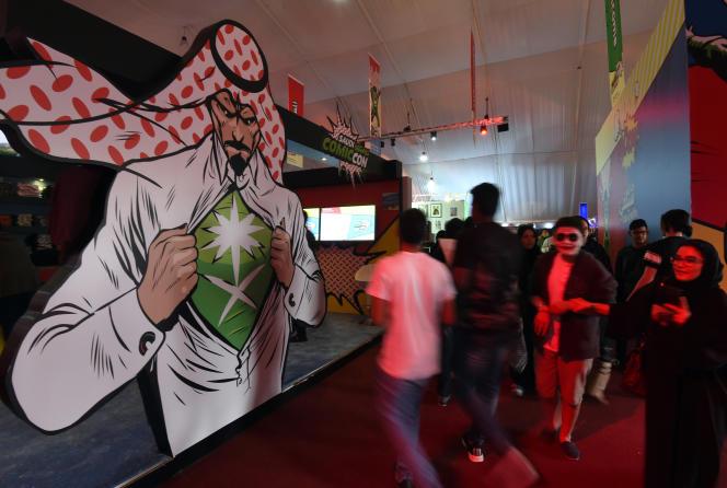 Lors du premier festival Comic-Con jamais organisé à Djedda, le 16 février 2017. Durant trois jours, les habitants de la ville côtière saoudienne ont pu assister à une foire à la gloire des super-héros de la pop culture américaine
