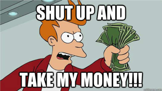« Tais-toi et prends mon argent», mème quasi officiel des spectateurs de l'E3, pour qui le consumérisme fait partie du jeu de l'événement.