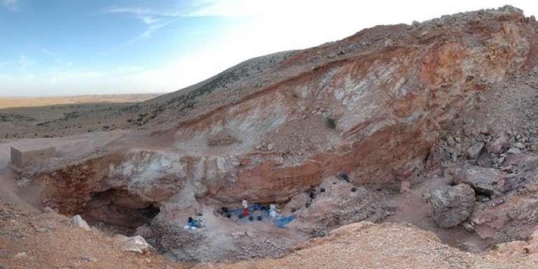 Le site du Djebel Irhoud au Maroc, où les fossiles ont été découverts.