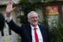 Jeremy Corbyn, le leader du Labour, après les résultats des législatives, à Londres, le 9 juin 2017.