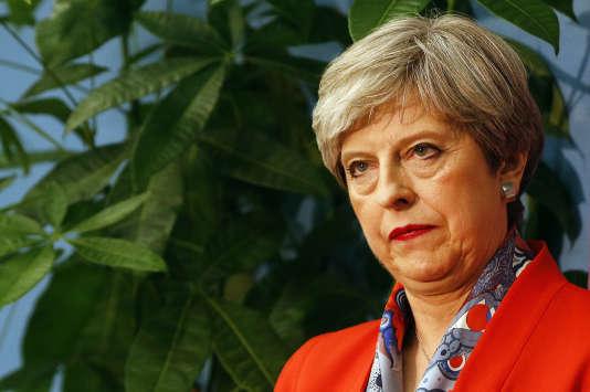 La première ministre britannique, Theresa May, vendredi 9 juin, à Maidenhead, en Angleterre.