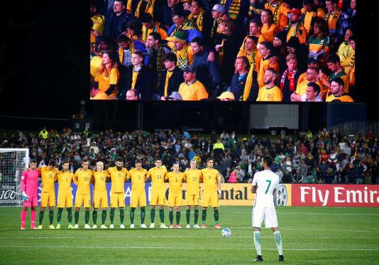 Lors du match entre l'Australie et l'Arabie saoudite, le 8 juin.