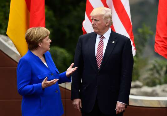 Angela Merkel et Donald Trump, lors du sommet du G20, le 26mai, à Taormine, en Sicile.