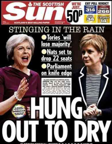 Les deux premières ministres (britannique et écossaise) sont « séchées » pour le «Scottish Sun».