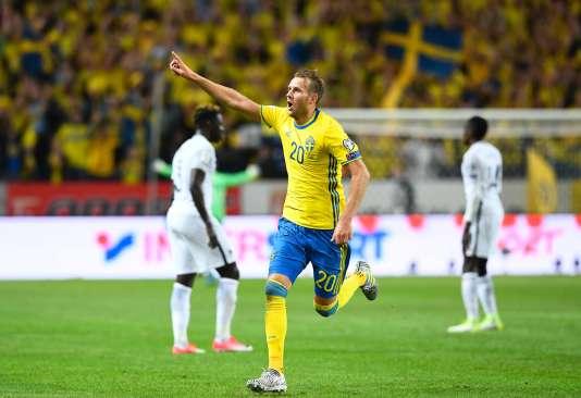 Ola Toivonena inscrit le but de la victoire pour la Suède face à la France.