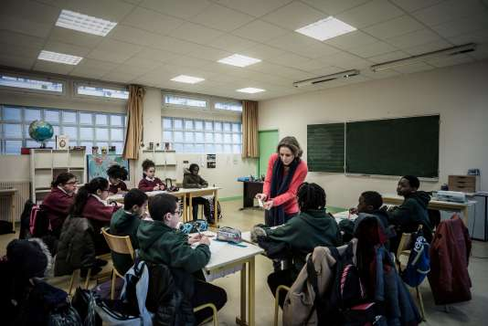 Dans un établissement scolaire d'Asnières-sur-Seine, le 13 janvier.