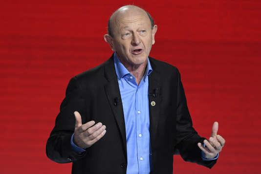 Jean-Luc Bennahmias lors du deuxième débat de la primaire de la gauche.