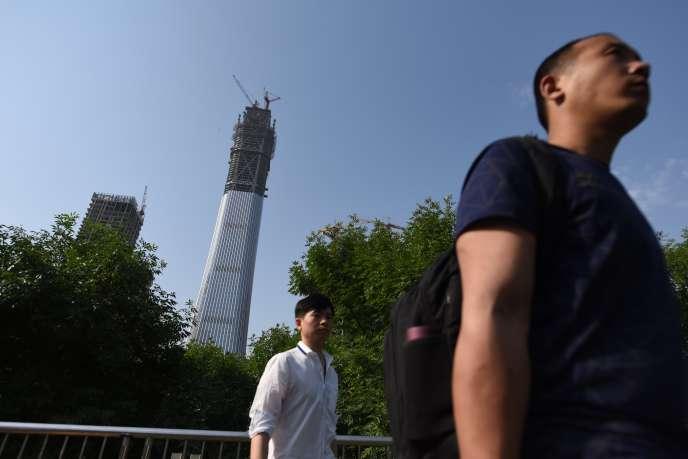 Projet de construction dans le quartier central des affaires de Pékin, le 25 mai.