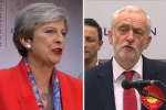 La première ministre semblait sonnée par la perte de sièges conservateurs, tandis que Corbyn, demande sa démission.