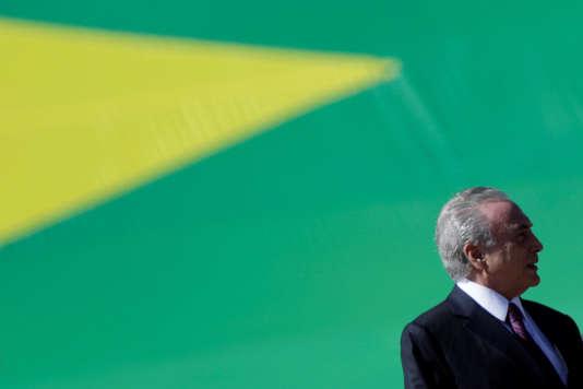 Le président brésilien Michel Temer, à Brasilia le 9 juin.