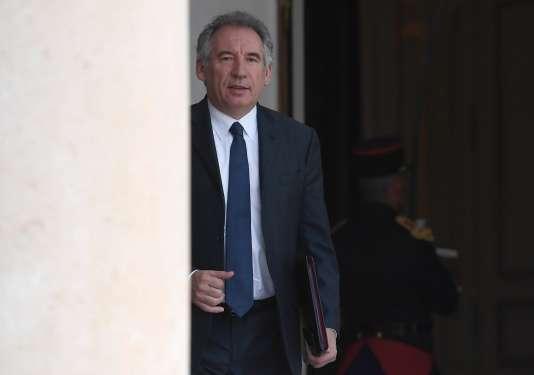 Le ministre de la justice François Bayrou à l'Elysée, le 31 mai.