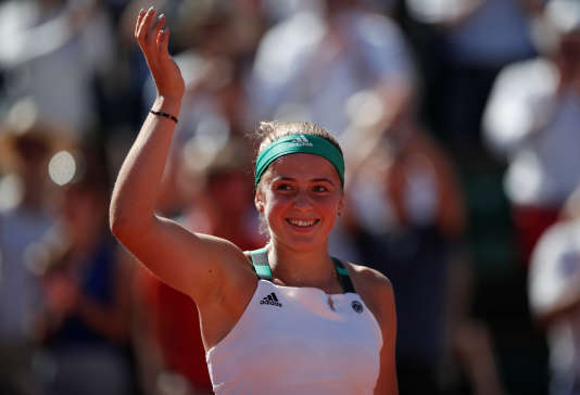Jelena Ostapenko a remporté le tournoi de Roland-Garros le 10 juin à Paris.